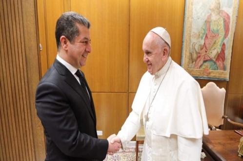 سەرۆكی حكومەتی هەرێمی كوردستان لەگەڵ پاپا فرەنسیس كۆبووەوە