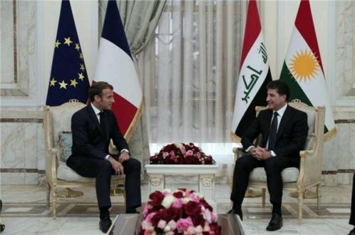 سهرۆك ماكرۆن: فهڕهنسا له پشتگیریى ههرێمى كوردستان بهردهوام دهبێت